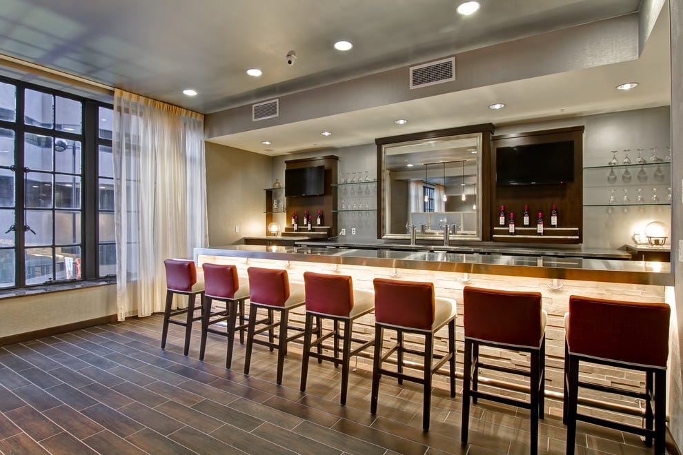 Bar at the new Homewood Suites and Hampton Inn & Suites