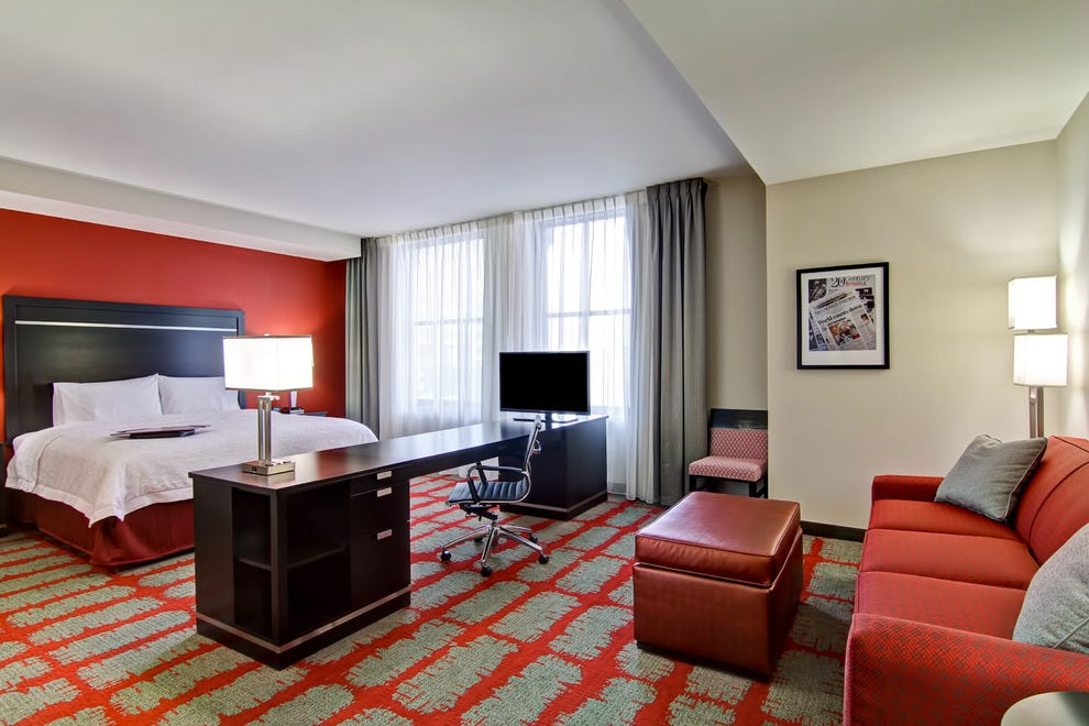 Studio suite at Hampton Inn & Suites