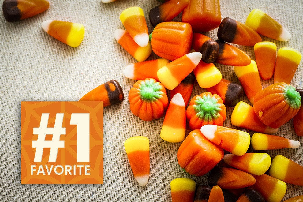 #1 favorite candy is candy corn as voted by five states.