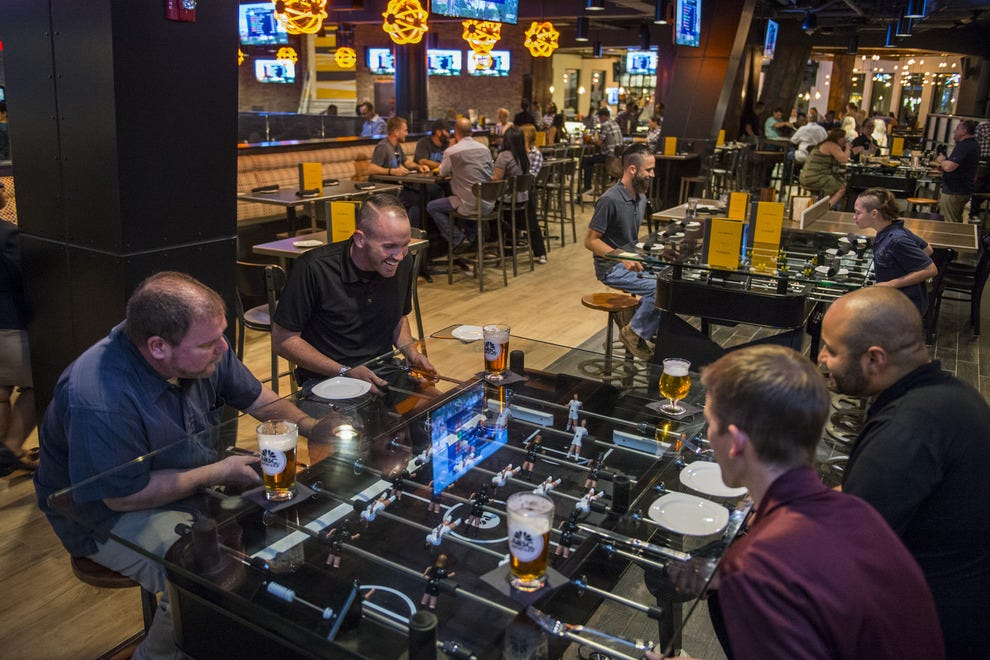 The Ultimate Fan Cave? Foosball, beer, burgers and beyond beckon