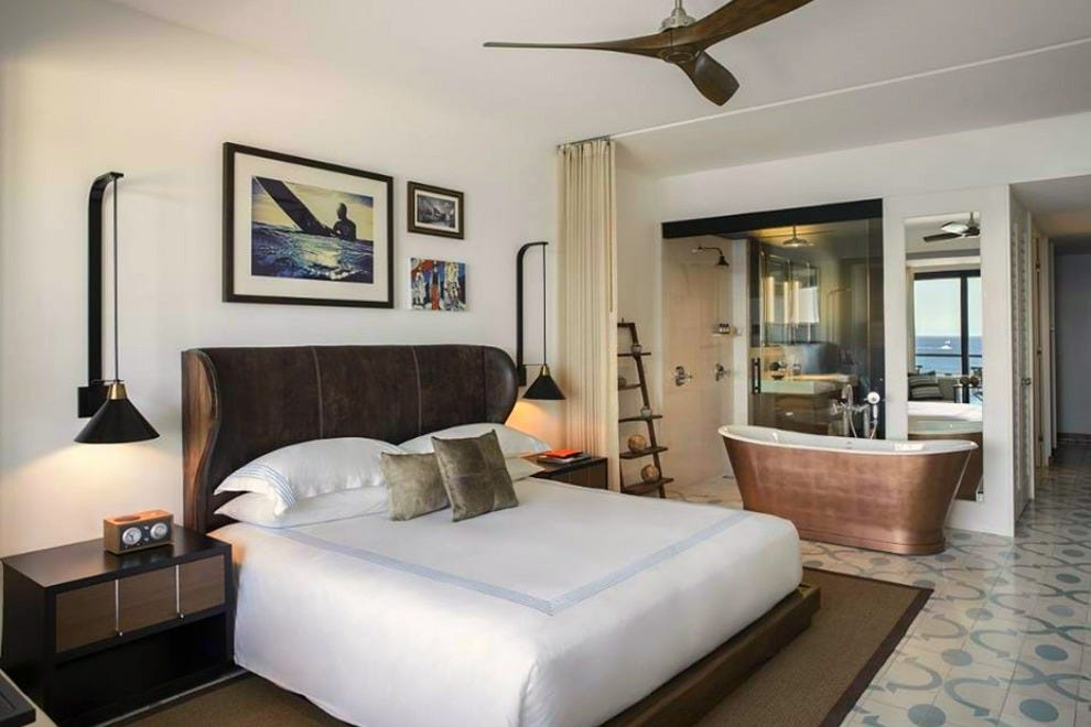 Surfer chic and boutique touches like copper bathtubs set apart each of The Cape's 161 rooms and suites
