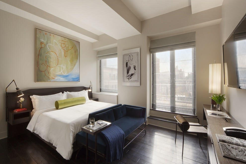 Paltry New York square footage? Not in this hotel