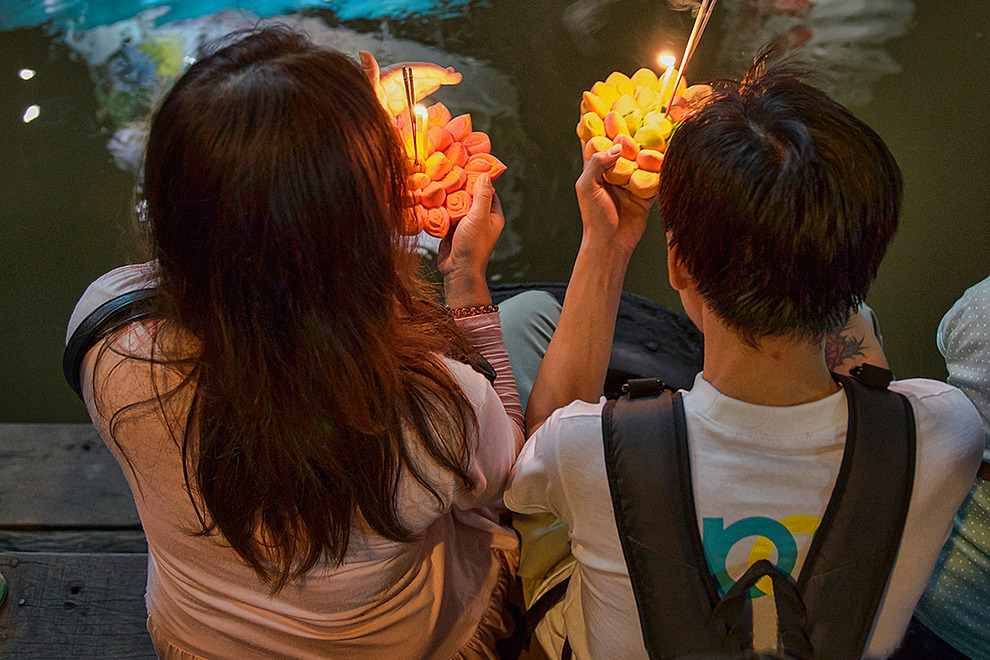 A romantic time at Loy Krathong