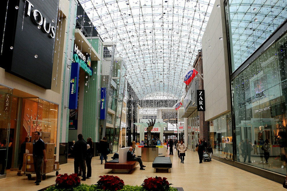 The Yorkdale Mall (also called Yorkdale Shopping Centre) is one of the largest Toronto malls and the fifth largest mall in all of Canada with over stores. It's located in North York and is known as being a fashion lovers paradise as it's home to a huge number of .