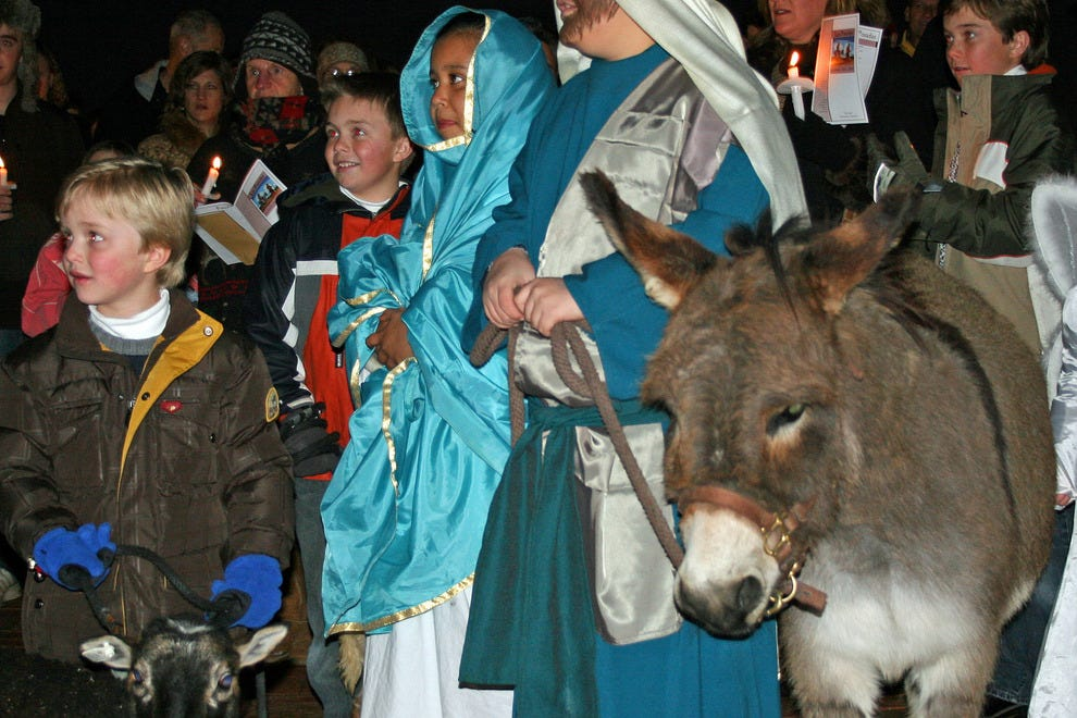 The Las Posadas celebration on Christmas Eve