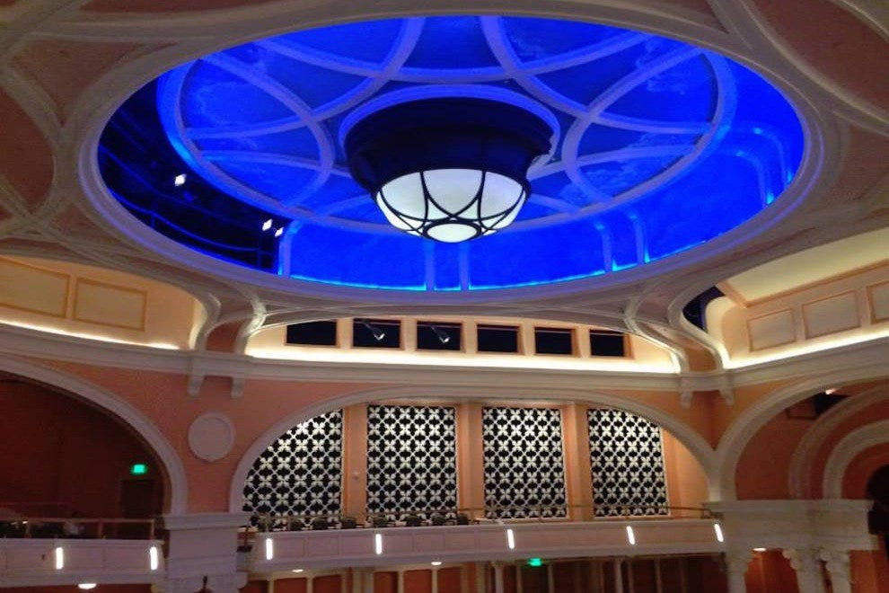 Vivid blues and soft pastel pinks set the stage for any Gaillard Center performance