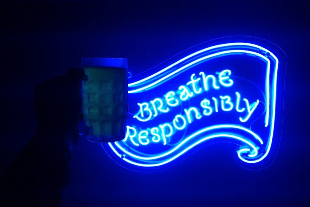"Alcoholic Architecture encourages patrons to ""breathe responsibly"""