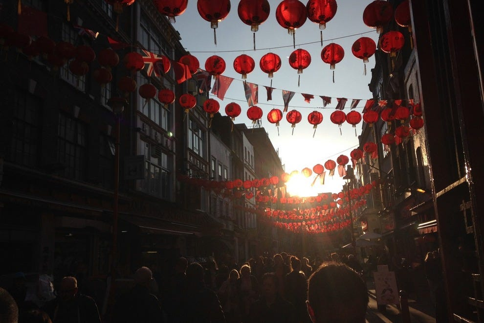 London's Chinatown brings brilliant bursts of color to its streets