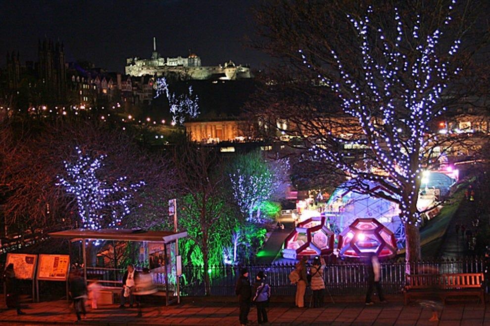 Edinburgh Lighting Up Time Edinburgh Sunset 17 MarchReal