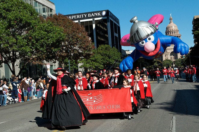 Chuy's Giving to Children Parade