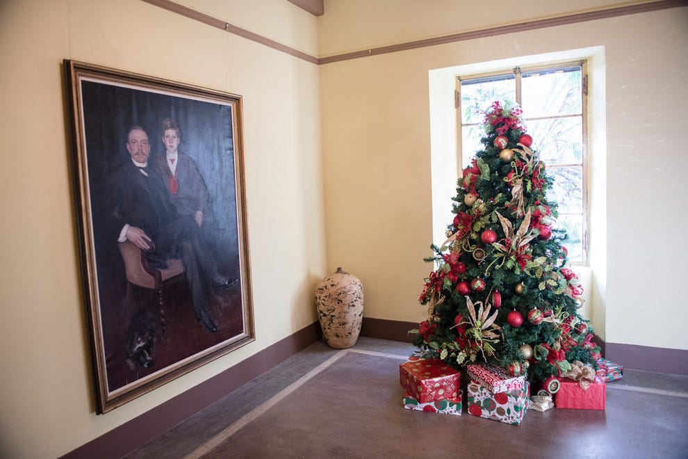 Beautifully adorned trees are found in every house at Deering