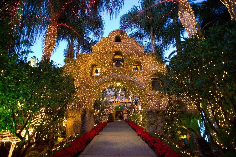 Mission Inn Riverside Christmas Lights