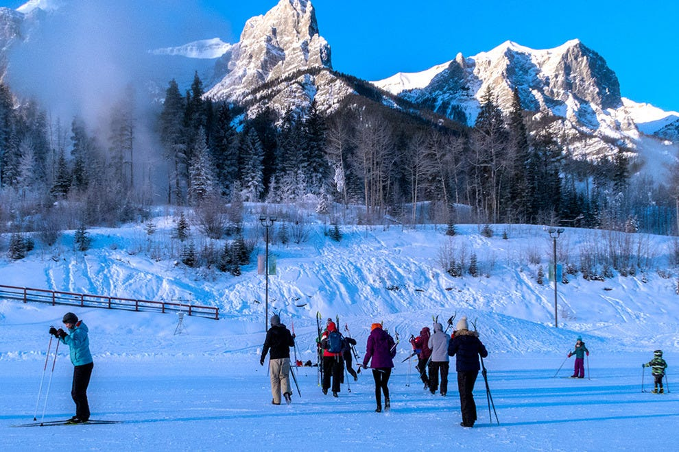 Cross-country skiing at the Canmore Nordic Ski Centre