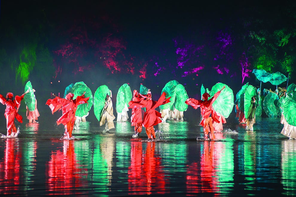 """""""Impression West Lake"""" is performed literally on the water"""