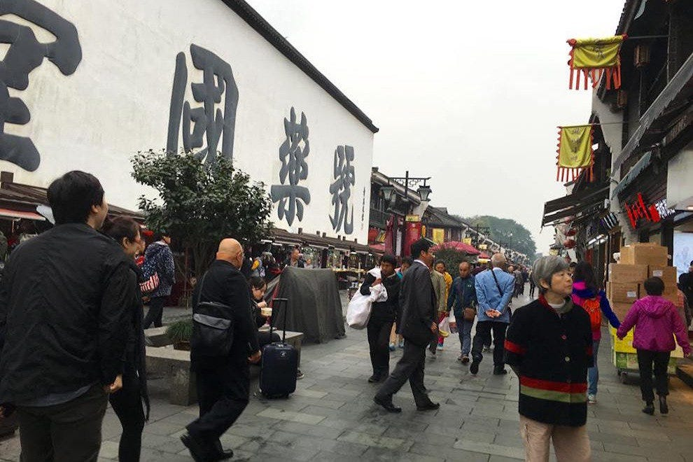 Shoppers in the historic Qinghefang district