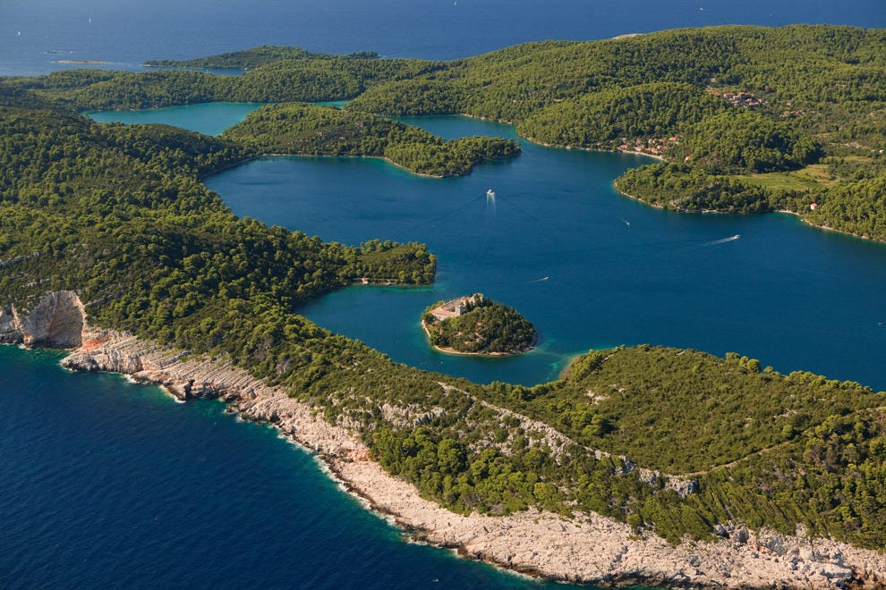 Mljet National Park borders two lakes on the island