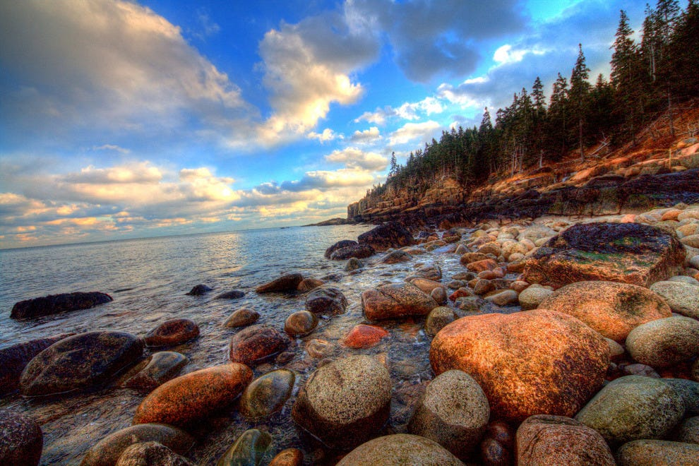 Otter Cliff is a great beach for walking and crawling along the rocks.