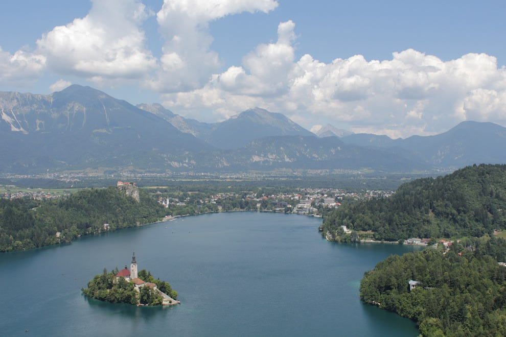 Lake Bled sits right at the foothills of Triglav National Park, home to Slovenia's tallest peak