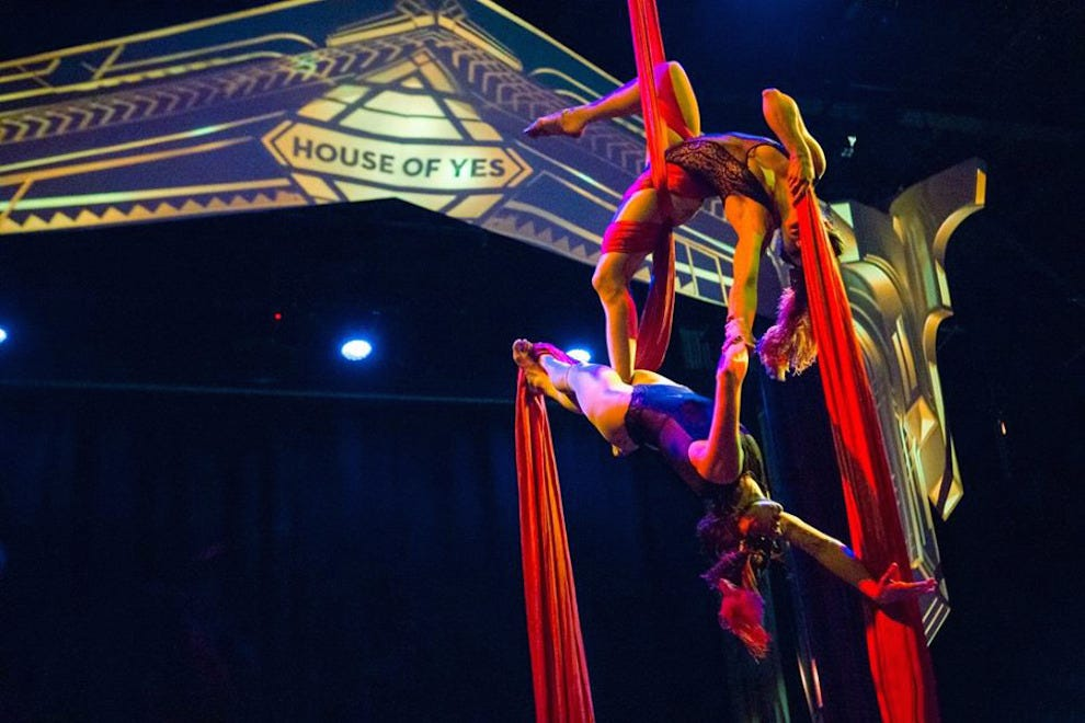 Aerialists perform at House of Yes