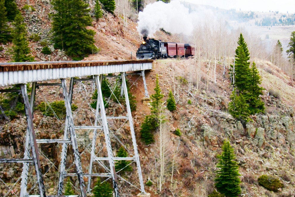 Between Chama and Antonito, the train passes over four trestles and through two tunnels
