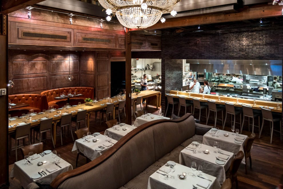 The chef's table at BOCA peeks into the kitchen