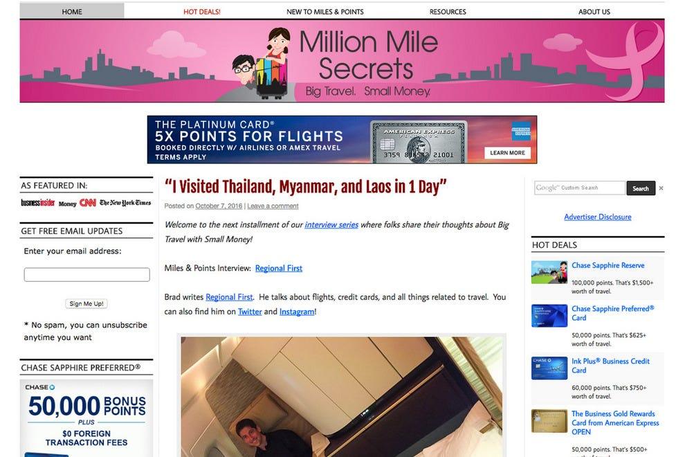 million miles secrets
