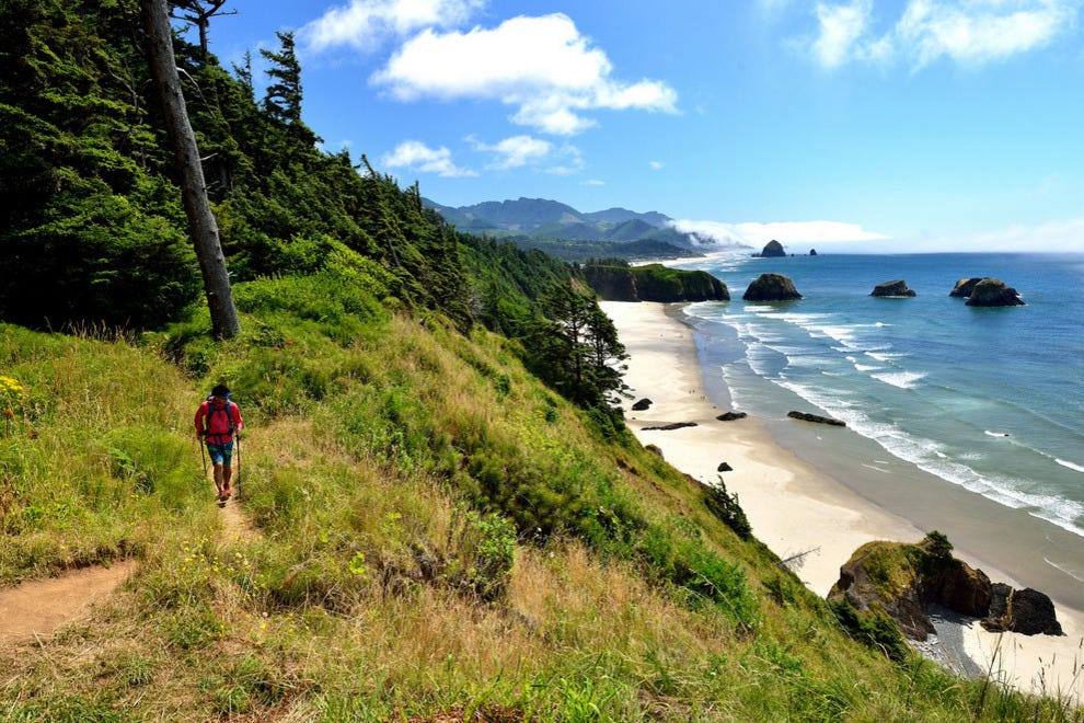 A road trip along Oregon's rocky coastline can be a slo-mo trip, enjoyed for natural beauty and lack of agenda