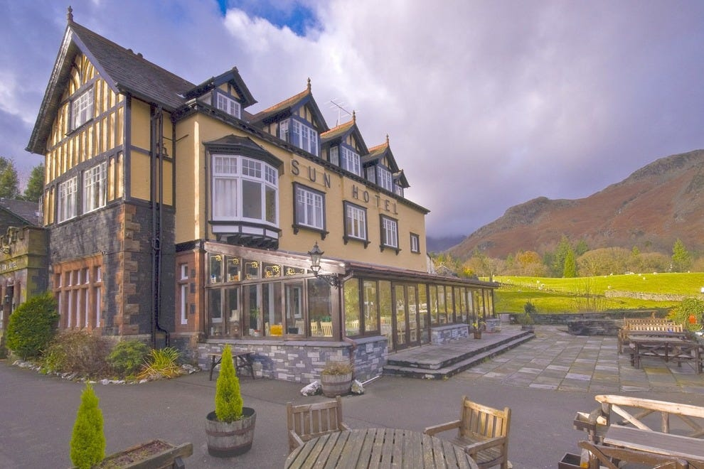 Country inns abound in Britain's Lake District, where hiking the hills or lazing before a fire are the mode of the day