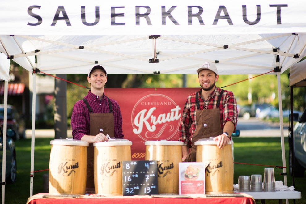 Drew Anderson and Luke Visnic started Cleveland Kraut, a raw, fermented sauerkraut