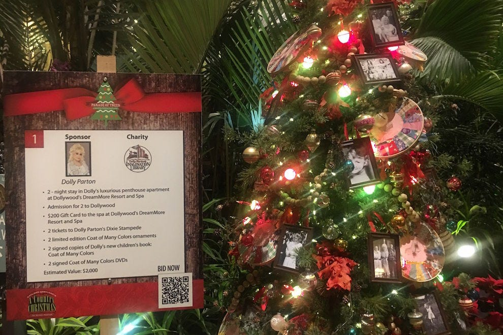 Dolly Parton's Tree for Charity in Opryland's Parade of Trees