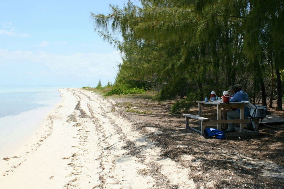 """Lunch Beach"" at Grand Bahama Island's East End"