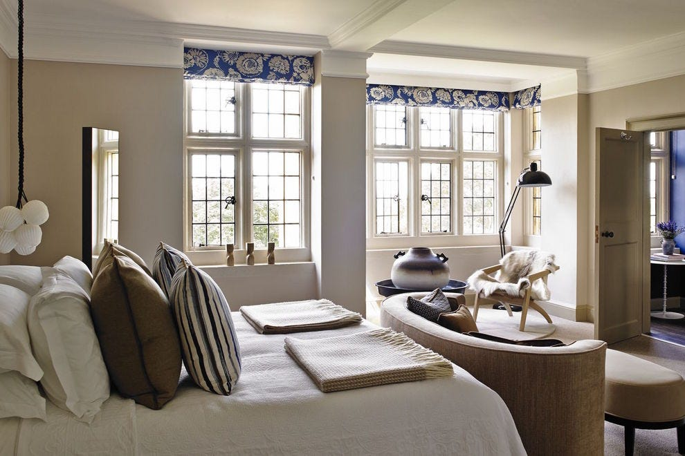 Birch Room is one of eight rooms in Foxhill Manor, a 1909 Arts and Crafts style manor house hotel