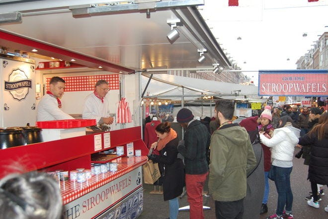 Original Stroopwafels Stand at the Albert Cuypmarkt