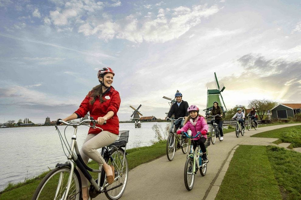 Rhine river cruise cycling excursion