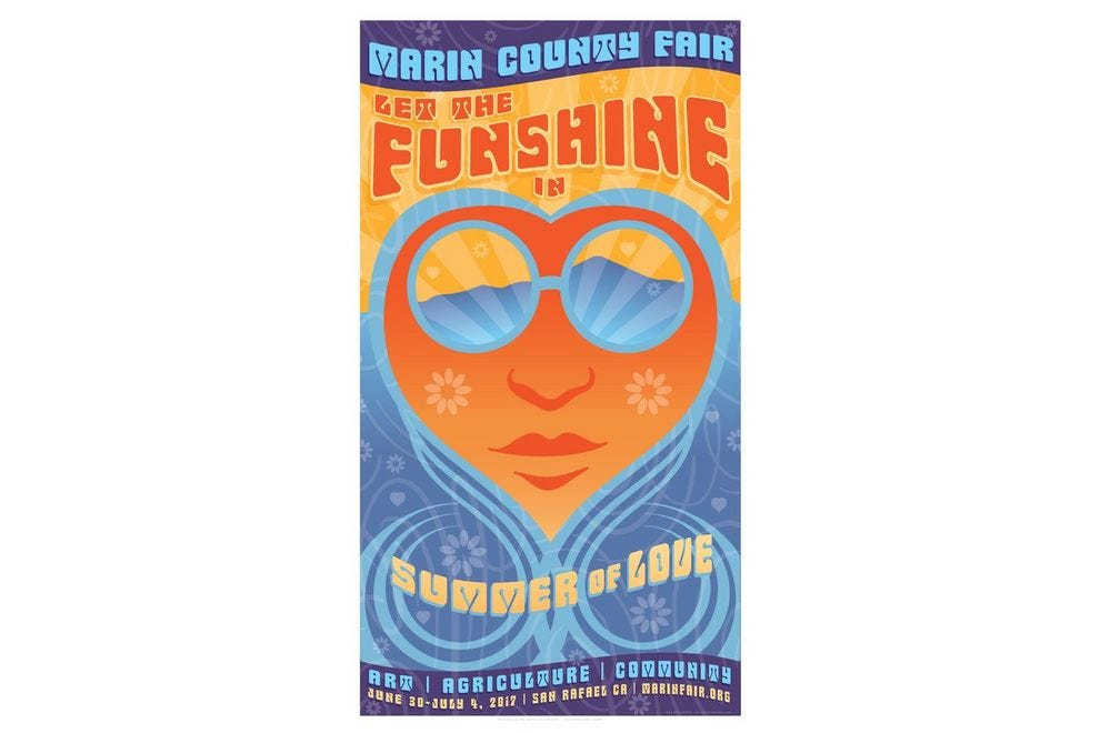 Let the Funshine In! is Marin County Fair's theme in a flashback to Summer of Love