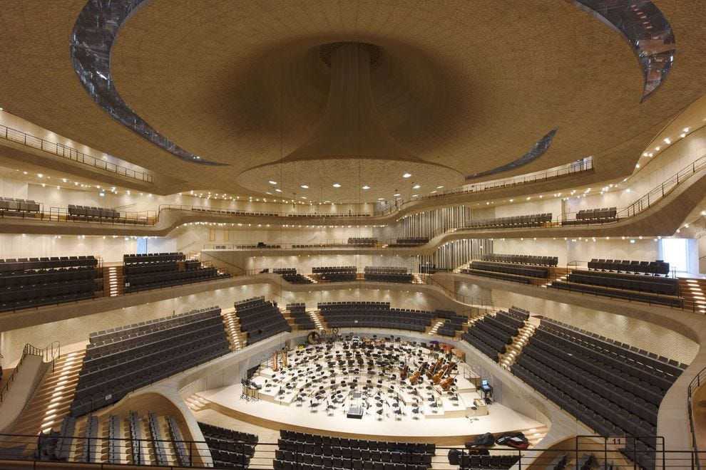 Main concert hall of the Elbphilharmonie