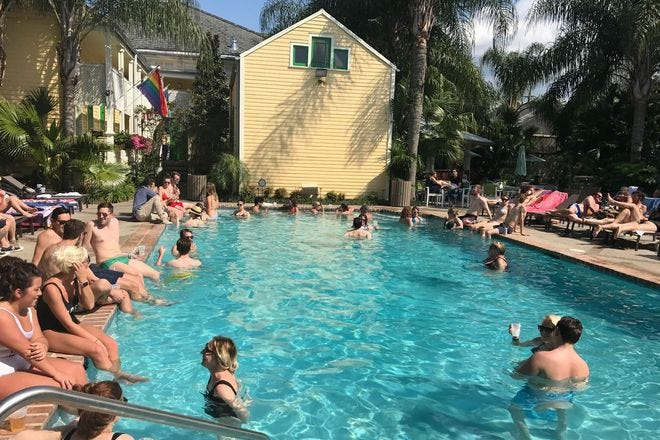 The Country Club pool is a lush getaway in Bywater.