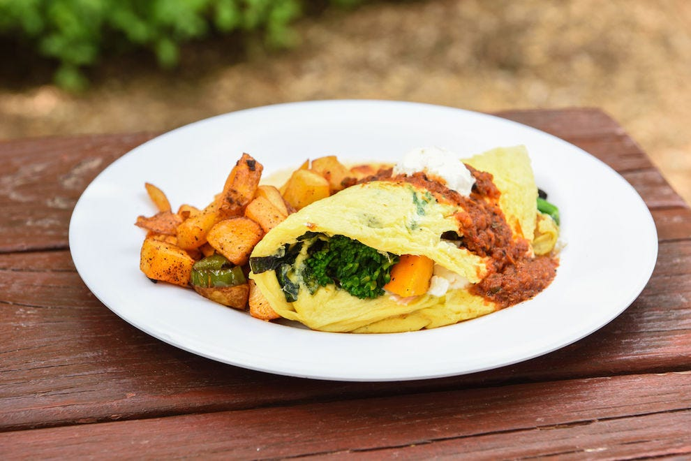 Farm omelette at Morning Glory Cafe