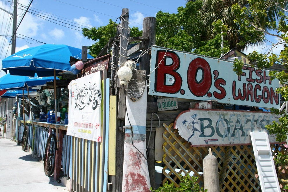 True Key West funk at B.O.'s Fish Wagon