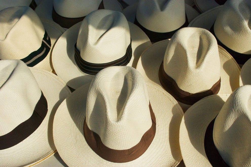 Panama hats are really from Ecuador but are widely available in Panama; opt for the best quality.