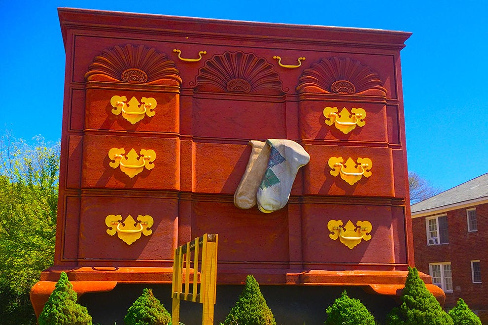 World's largest chest of drawers (or hanging sock house)