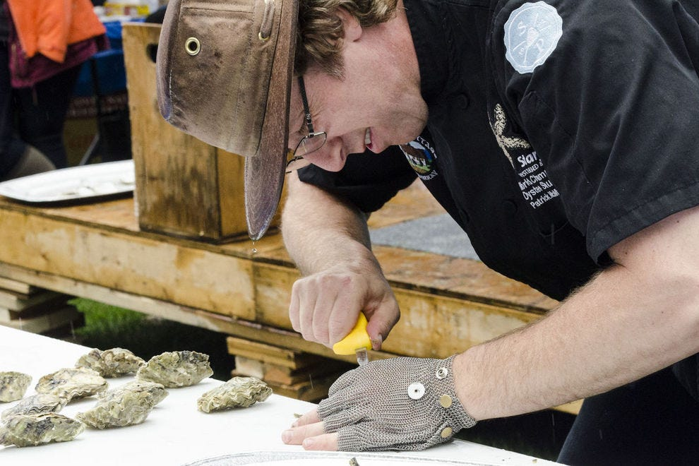 Ever year Vancouver Island's Comox Valley hosts a seafood extravaganza