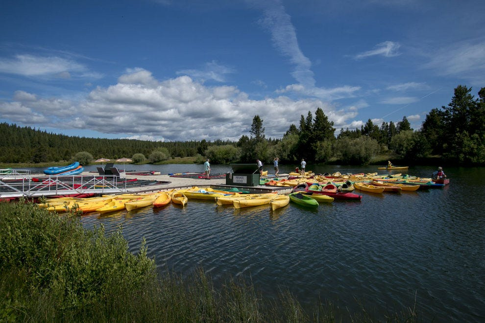 Sunriver Resort means sun-kissed days spent paddling around and nights spent stargazing by the fire