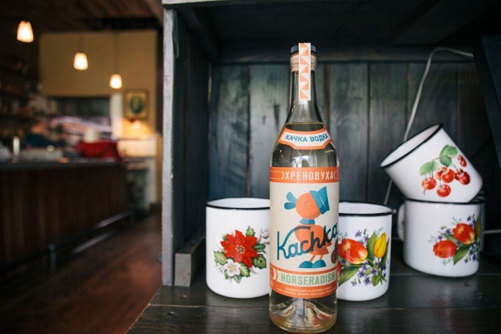 Loyal fans flock to Kackha for its delicious Russian fare and house-infused vodkas