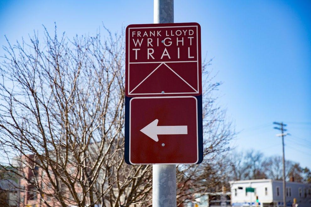 Frank Lloyd Wright Trail sign