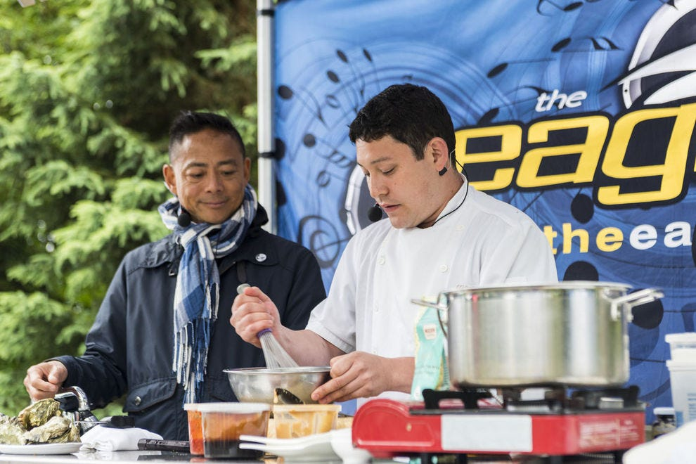 Chefs Nathan Fong and Quang Dang show off their talents in Vancouver Island's Comox Valley