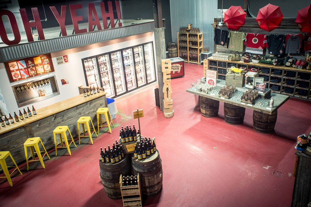 The employee-owned brewery offers tours and tastings