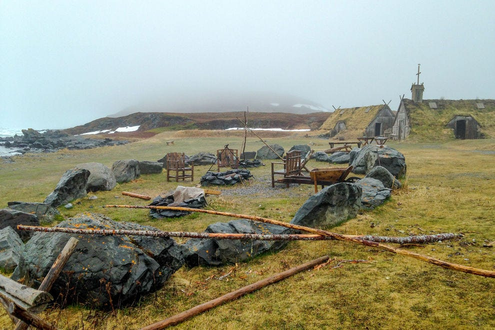 At L'Anse aux Meadows, visitors can explore a recreated Norse settlement