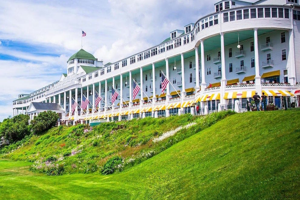 The Grand Hotel's front porch is the world's longest at 660 feet