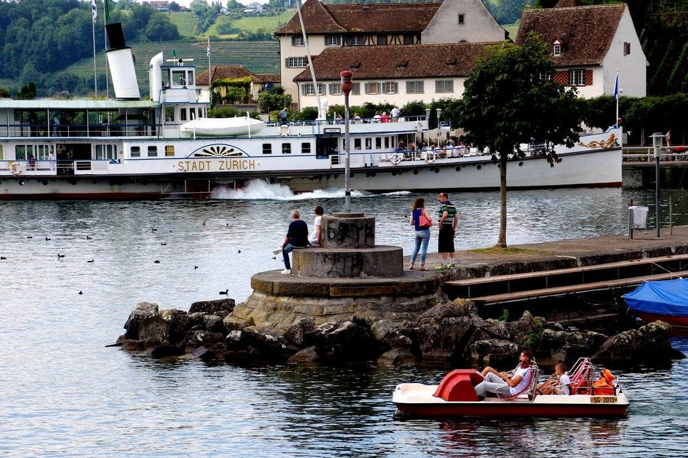 Go jump in a lake: Zurich's lake that is!